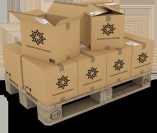pallets met dozen